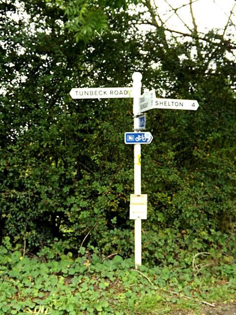 Roadsign on Tunbeck Road