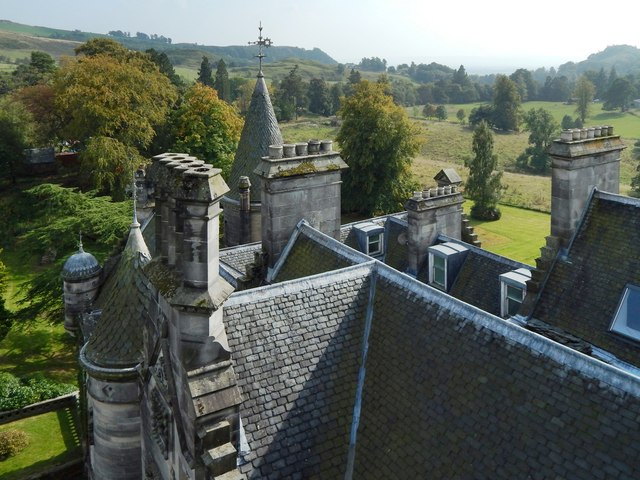 Overtoun House: rooftop view