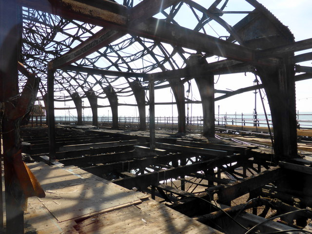 Fire Damage at Eastbourne Pier