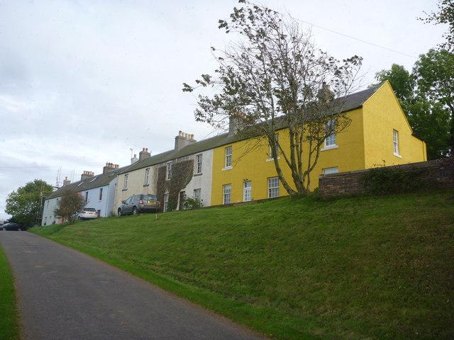 Rural East Lothian : Terrace Of Houses, Long Newton