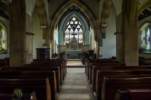 Interior, St Peter's church, Normanby le Wold