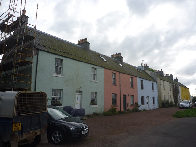 Rural East Lothian : Main Street, Long Newton