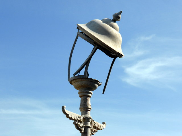 Fire damaged lamp on Eastbourne Pier