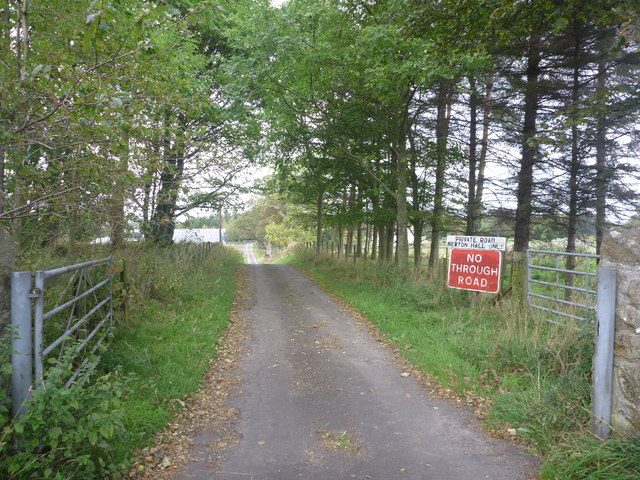 Rural East Lothian : Newton Hall Road-end (South)