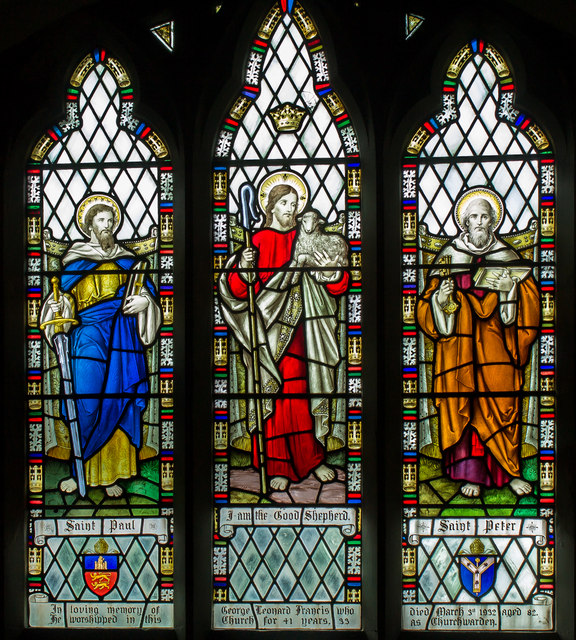 Stained glass window, St Peter's church, Normanby le Wold