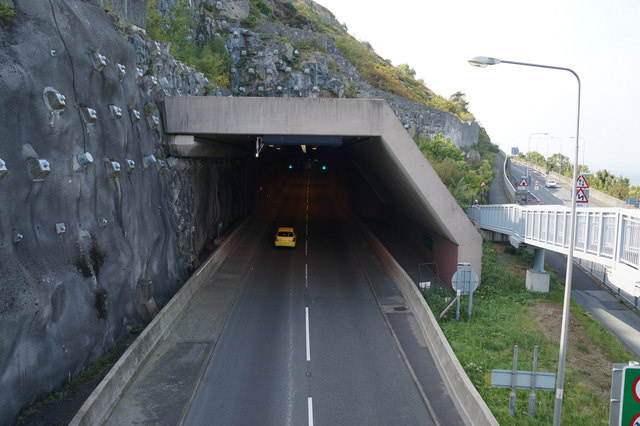 The A55 North Wales Expressway Westbound