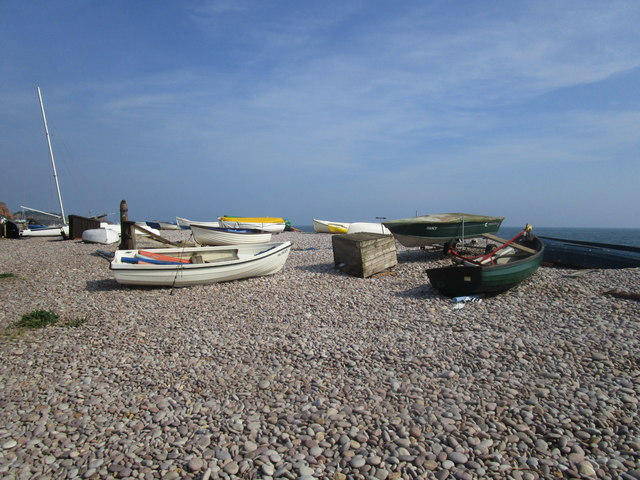 Boats on the beach, Budleigh Salterton