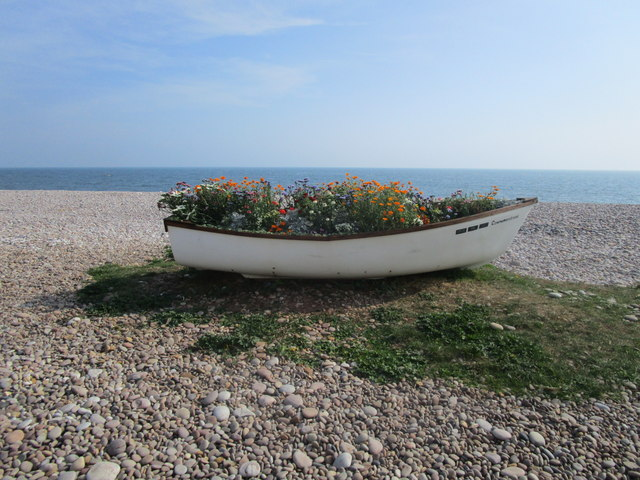 Boat planter, Budleigh Salterton