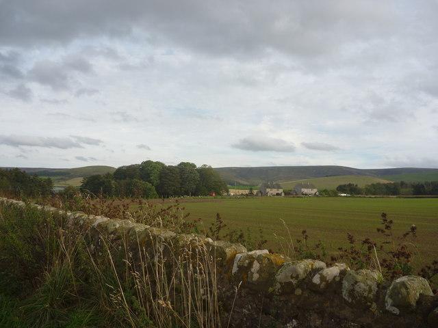 East Lothian Landscape : Roadside Scene Near Longyester