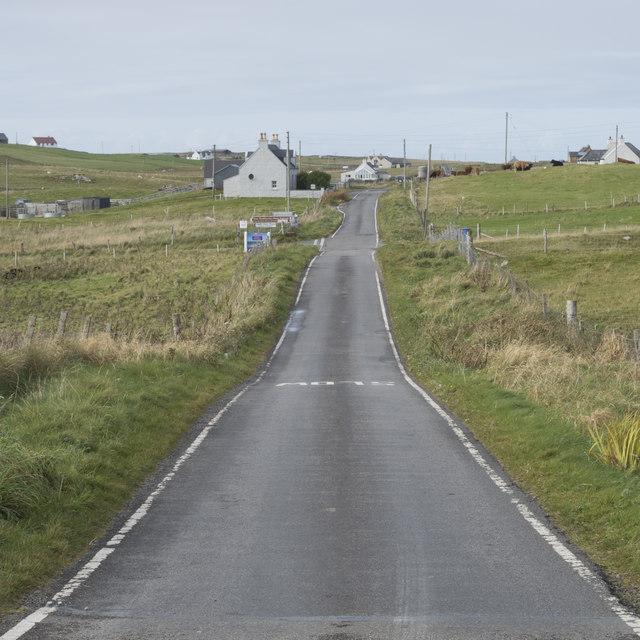 The A865 near Tigh a' Ghearraidh