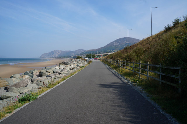 Wales  Coast Path towards Penmaenmawr