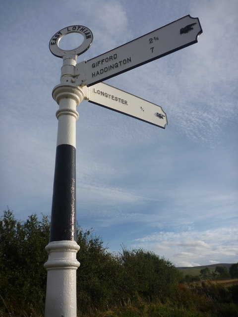 East Lothian County Council Fingerposts : Baxtersyke