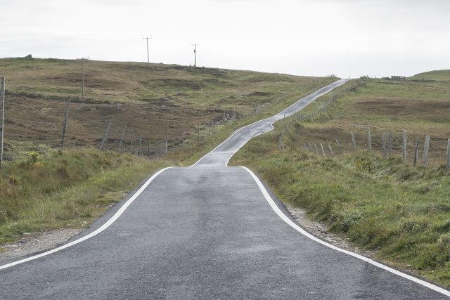 The A865 near Loch Olabhat