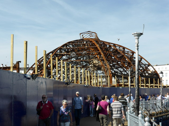 Fire Damage at Eastbourne Pier