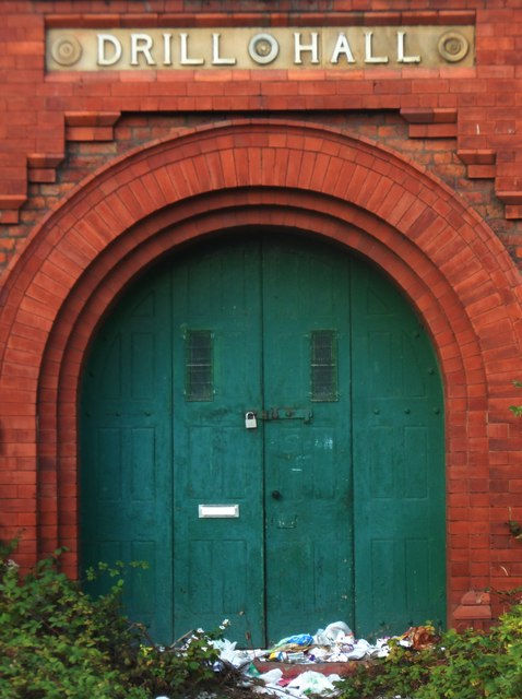Front Door of Patricroft Drill Hall
