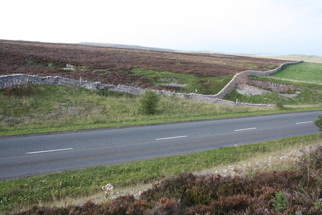 View of Slape Crag across A685