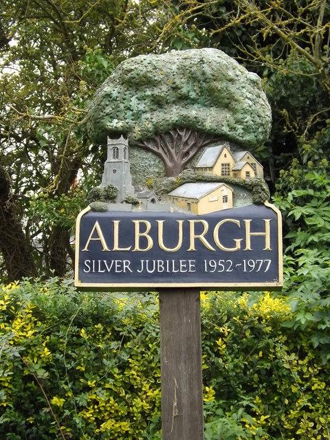 Alburgh Village sign