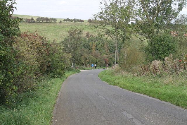 Normanby Road runs downhill towards Nettleton