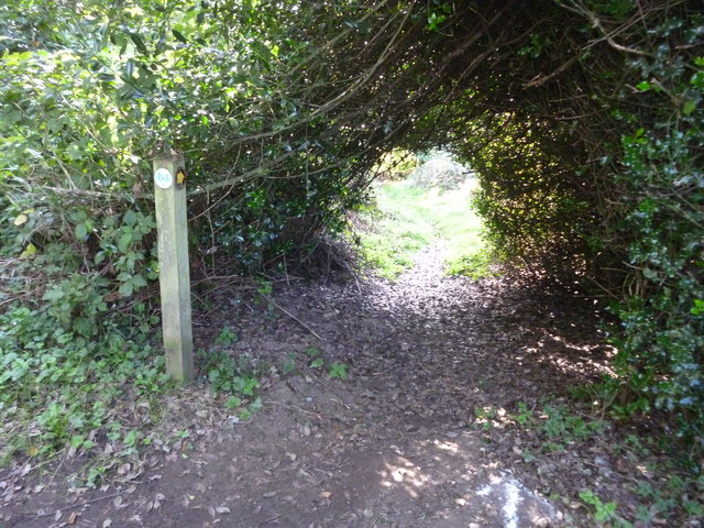 Footpath junction to Southlands