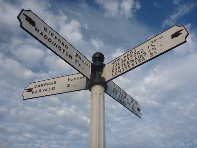 Rural East Lothian : Danskine Crossroads - Centre Of The Universe