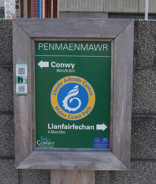Wales Coast Path Notice at Penmaenmawr