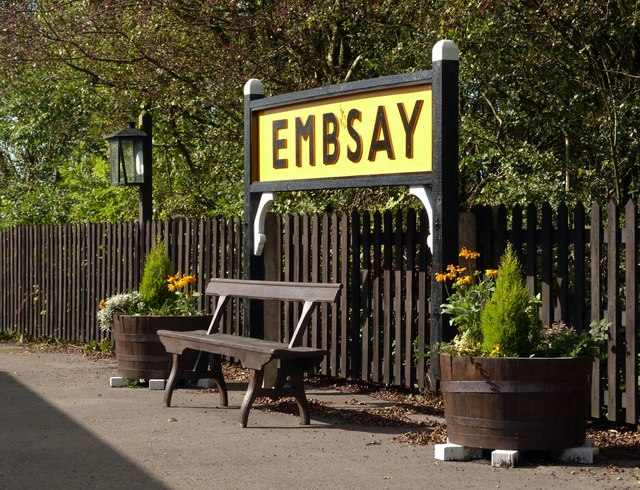 Embsay Station sign