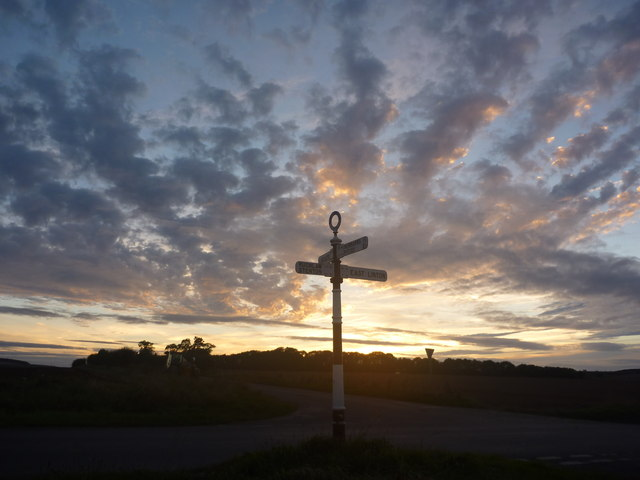 Rural East Lothian : Grangemuir Crossroads