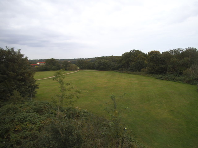 Playing fields by the A3, Kingston Vale