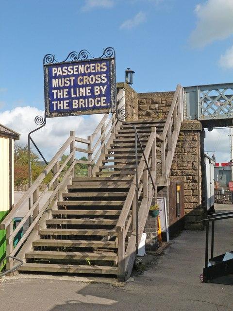 Passenger bridge, Embsay Station