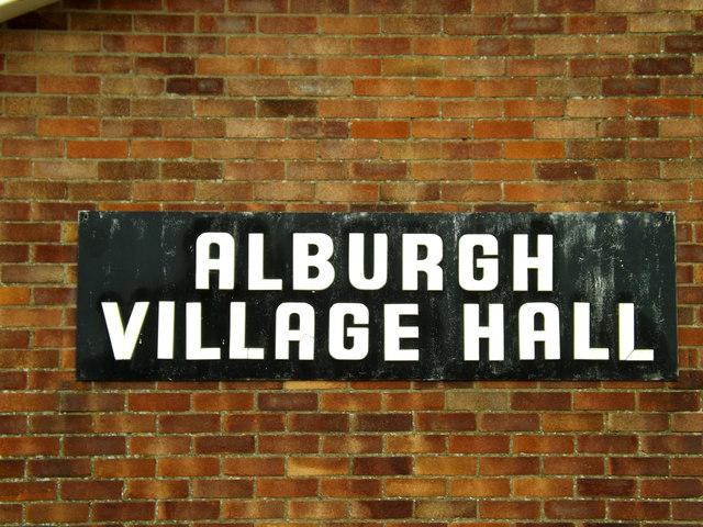 Alburgh Village Hall sign