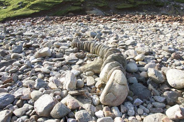 'Sculpture' on Woodwick beach