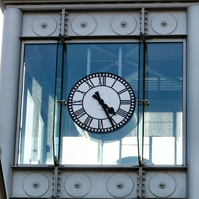 The Clock on the Courts Lift