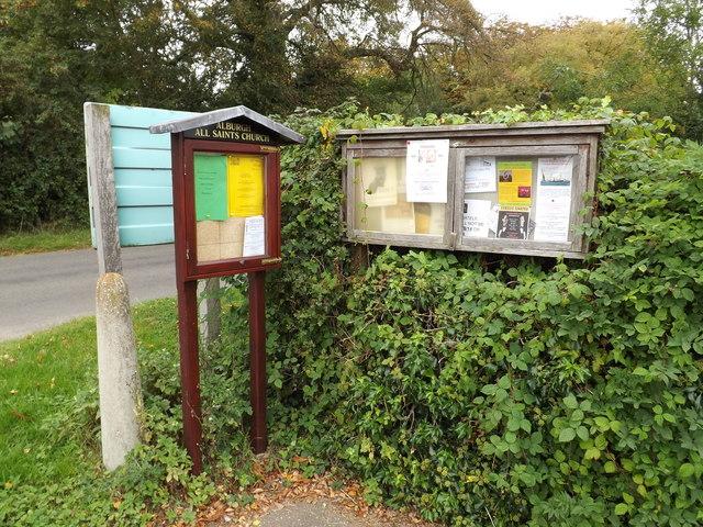 All Saints Church & Alburgh Village Notice Boards