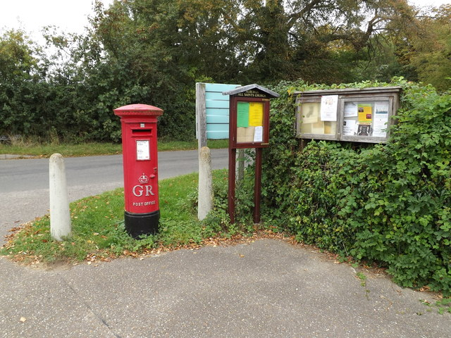 Village Hall George V Postbox & Notice Boards