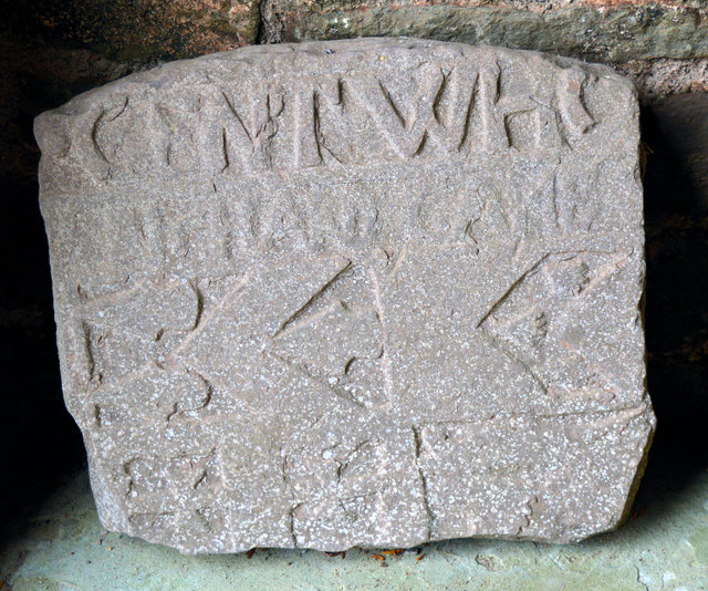 Carved stone, St David, Llanddew