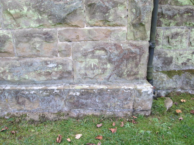 Bench  Mark  on  St  Peter's  Church  Langdale  End