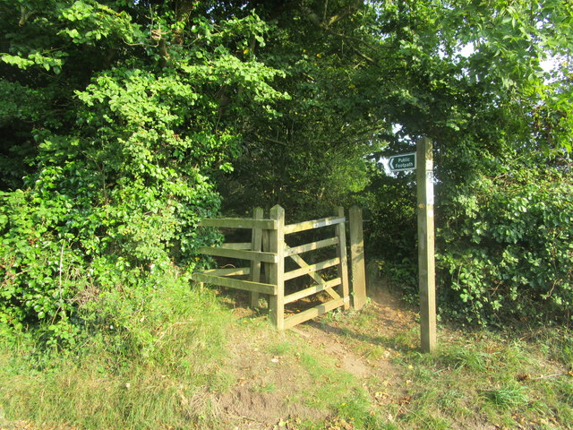 Signpost and gate