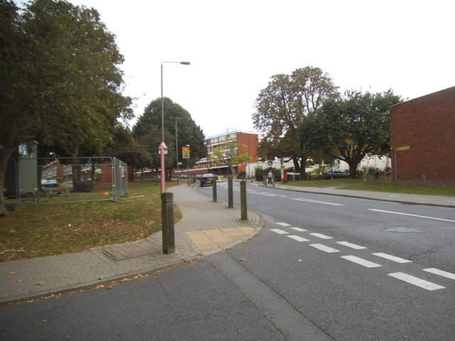 Danebury Avenue at the corner of Tangley Grove