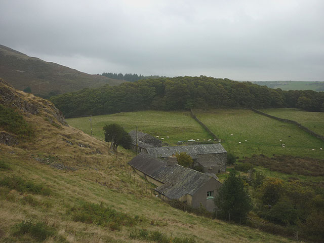 Scrithwaite Farm from above