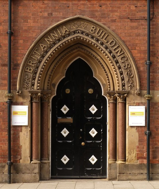 Entrance, Britannia Buildings, Leeds