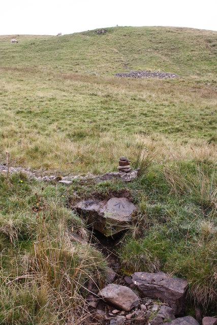 Track crossing stream on Harter Fell