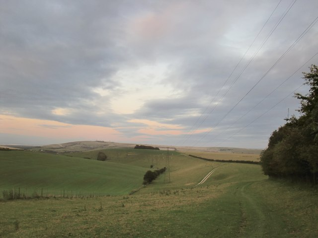 View east towards Coombe Head