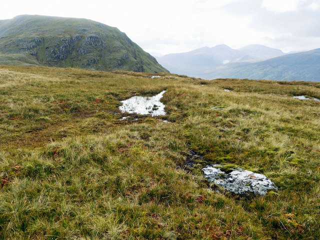 "West from Druim Reidh towards the ""nose"" of Sron na Goibhre"