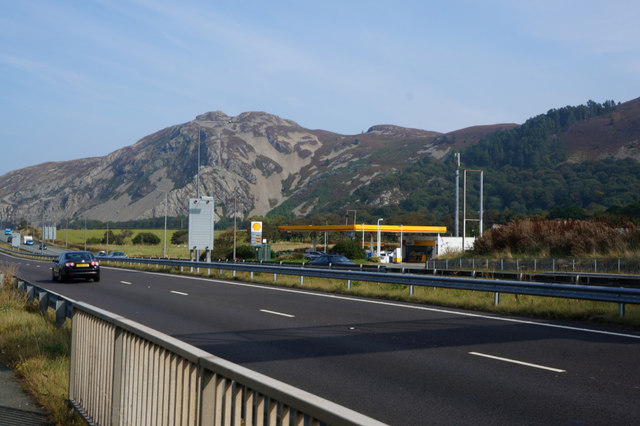 Shell garage on the A55 at Dwygyfylchi