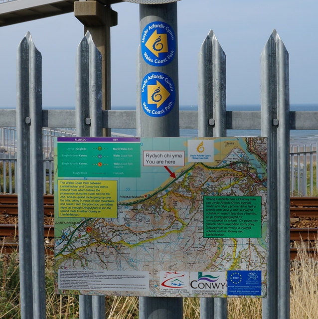 Route map on the Wales  Coast Path