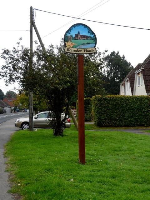 Kelvedon Hatch village sign