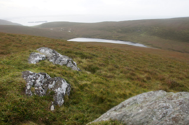 Heimar Water, near Libbers Hill, from un-named top to the east