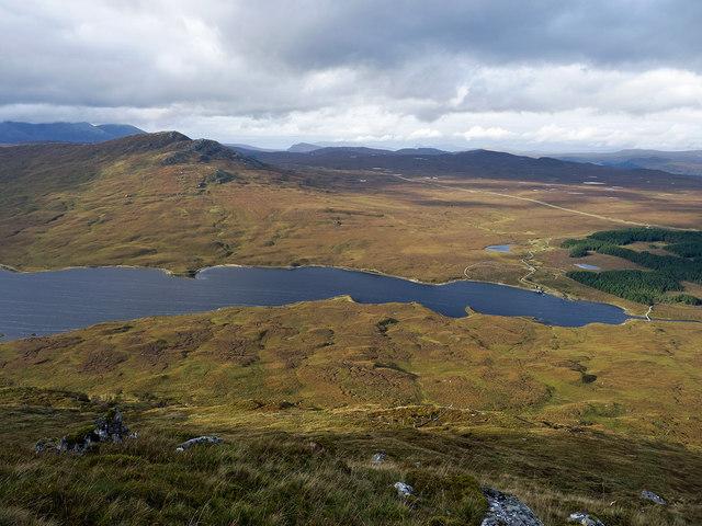 The head of Loch a' Bhraoin seen on the descent of Leitir Fhearna