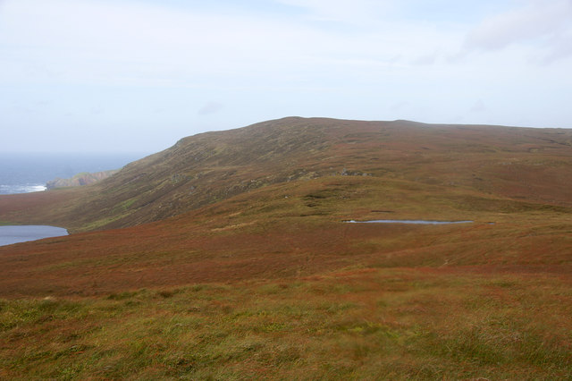 View to Libbers Hill from un-named top near Heimar Water