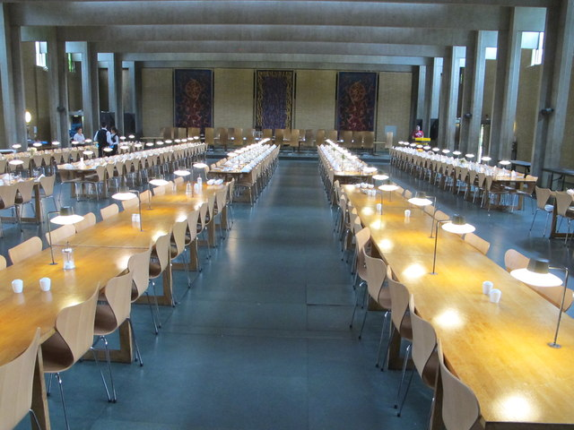 Dining hall of St Catherine's College, Oxford